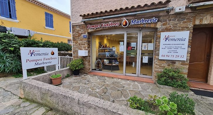 Agence de pompes funèbres Feminia-Comba à Bormes-les-Mimosas