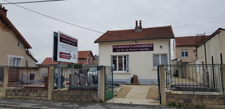 Extérieur de l'agence Pompes funèbres Sautier à Laon