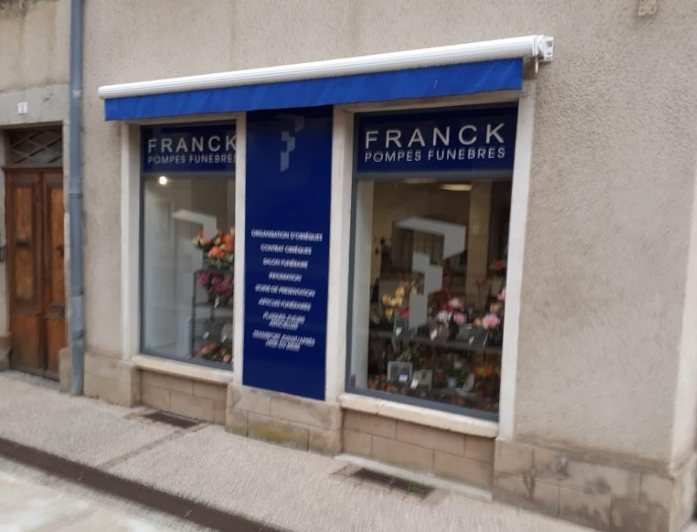 Extérieur de l'agence Pompes funèbres Franck à Couches